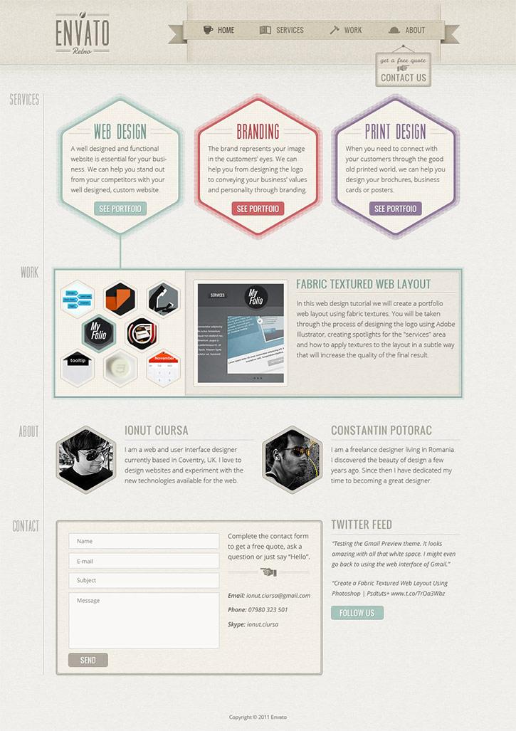 学习网站设计最好的50个ps教程(上) | 应酷爱网页设计