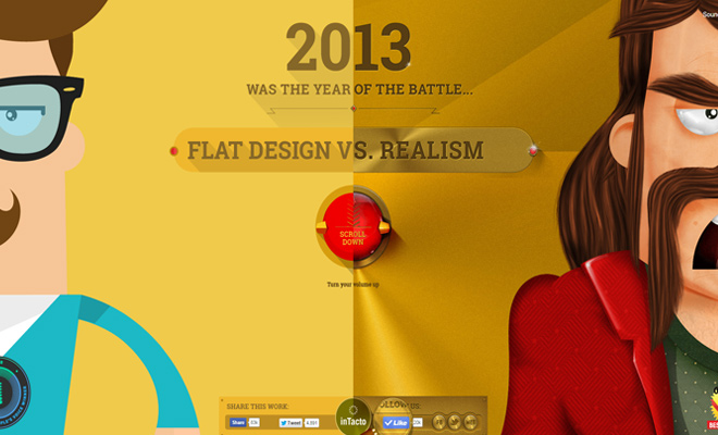 01-flat-vs-realism-website-layout