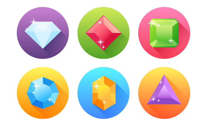 tutorials-06-flat-precious-gems-icons
